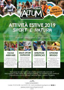 centri estivi genova 2019 altum park parco sportivo outdoor